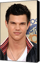 Mtv Canvas Prints - Taylor Lautner At Arrivals For 2009 Mtv Canvas Print by Everett