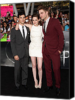 Nokia Theatre Canvas Prints - Taylor Lautner Wearing A Gucci Suit Canvas Print by Everett