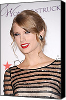 Herald Canvas Prints - Taylor Swift At In-store Appearance Canvas Print by Everett