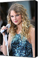 Talk Canvas Prints - Taylor Swift On Stage For Nbc Today Canvas Print by Everett