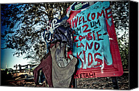 Jazzland Canvas Prints - Taz Welcomes You to Zombie Land Canvas Print by Pixel Perfect by Michael Moore