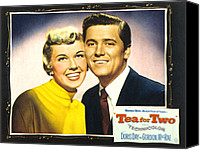 1950 Movies Canvas Prints - Tea For Two, From Left Doris Day Canvas Print by Everett