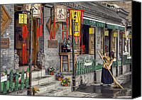 Chinese Canvas Prints - Tea House Canvas Print by Scott Norris