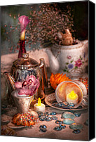 Hatter Canvas Prints - Tea Party - I would love to have some tea  Canvas Print by Mike Savad