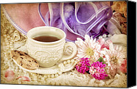 Tea Party Canvas Prints - Tea Party Canvas Print by Cheryl Davis