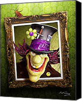 Creepy Digital Art Canvas Prints - Tea Time for the Twisted Canvas Print by Bill Fleming