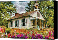 Architecture Photo Canvas Prints - Teacher - The School House Canvas Print by Mike Savad