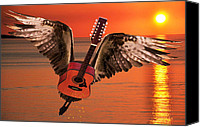 Rocks Canvas Prints - Teardrops On My Guitar Rocks Canvas Print by Eric Kempson