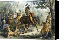 Buckskin Canvas Prints - Tecumseh (1768-1813) Canvas Print by Granger