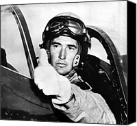 Williams Canvas Prints - Ted Williams 1918-2002, American Canvas Print by Everett
