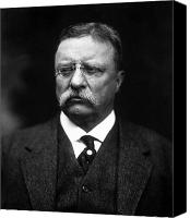 Roosevelt Canvas Prints - Teddy Roosevelt Canvas Print by War Is Hell Store