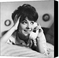 Conversing Photo Canvas Prints - Teenager on the Phone Canvas Print by Vivienne Della Grotta and Photo Researchers