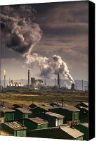 Responsibility Canvas Prints - Teesside Refinery, England Canvas Print by John Short