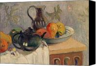 Mangoes Canvas Prints - Teiera Brocca e Frutta Canvas Print by Paul Gauguin