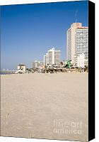 Tourist Destinations Canvas Prints - Tel Aviv coastline Canvas Print by Ilan Rosen