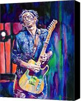Guitar Painting Canvas Prints - Telecaster- Keith Richards Canvas Print by David Lloyd Glover