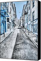 San Francisco Digital Art Canvas Prints - Telegraph Hill Blue Canvas Print by Scott Norris