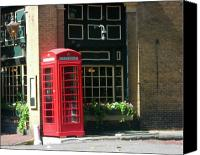 Photographs Pastels Canvas Prints - Telephone Booth Canvas Print by Michael McKenzie