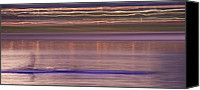 Rowers Canvas Prints - Tempe Town Lake Rowers Abstract 3 Canvas Print by Dave Dilli