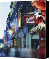 Walked Canvas Prints - Temple Bar, Dublin, Co Dublin, Ireland Canvas Print by The Irish Image Collection