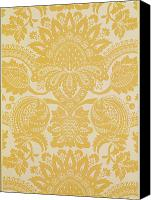 Textile Tapestries - Textiles Canvas Prints - Temple Newsam Canvas Print by Cole and Sons