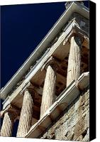 Acropolis Canvas Prints - Temple of Athena Nike Columns Canvas Print by John Rizzuto