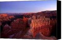 Utah Canvas Prints - Temple of the setting sun Canvas Print by Mike  Dawson