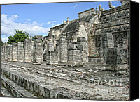 Renata Ratajczyk Canvas Prints - Temple of the Warriors - Chichen Itza - Mexico Canvas Print by Renata Ratajczyk