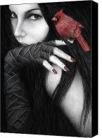 Goth Canvas Prints - Temptation Canvas Print by Pat Erickson