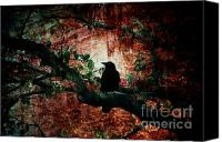 Black Crow Canvas Prints - Tempting Fate Canvas Print by Andrew Paranavitana