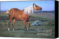 Wild Horse Pastels Canvas Prints - Temptress 3 Canvas Print by Deb LaFogg-Docherty