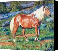 Wild Horse Pastels Canvas Prints - Temptress Canvas Print by Deb LaFogg-Docherty