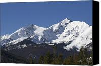Peak One Canvas Prints - Ten Mile Peak aka Peak One Colorado Canvas Print by Brendan Reals