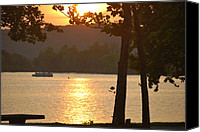 Michele Carter Canvas Prints - Tenkiller Lake Sunset Canvas Print by Michele Carter