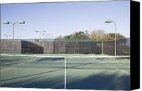 Sports Photo Canvas Prints - Tennis Court Canvas Print by Jeremy Woodhouse