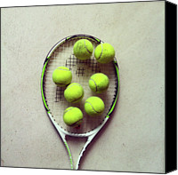 Tennis Canvas Prints - Tennis Canvas Print by Shilpa Harolikar