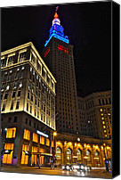 Public Square Canvas Prints - Terminal Tower and Casino Canvas Print by Robert Harmon