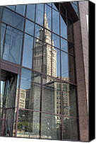 Public Square Canvas Prints - Terminal Tower Reflection Canvas Print by At Lands End Photography