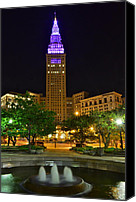 Marvelous Canvas Prints - Terminal Tower Canvas Print by Robert Harmon