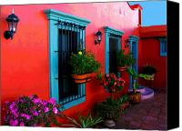 Portal Canvas Prints - Terrace Windows at Casa de Leyendas by Darian Day Canvas Print by Olden Mexico