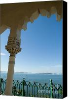 Cienfuegos Canvas Prints - Terrace with a view of the sea on top of the Palacio de Valle Canvas Print by Sami Sarkis