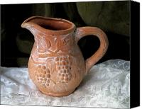 Patricia Schnepf Canvas Prints - Terracotta Jug Canvas Print by Patricia  Schnepf