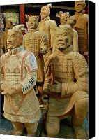 Still Life Sculpture Photo Canvas Prints - Terracotta Warriors Canvas Print by Dorota Nowak