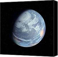 Planetary Canvas Prints - Terraformed Mars, Artwork Canvas Print by Detlev Van Ravenswaay