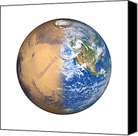 Planetary Canvas Prints - Terraforming Mars, Artwork Canvas Print by Detlev Van Ravenswaay