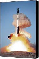 Flaming June Canvas Prints - Terrasar-x Satellite Launch Canvas Print by Ria Novosti