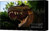 T Rex Canvas Prints - Terrible lizard Canvas Print by David Lee Thompson