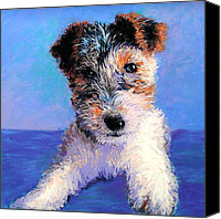 Soft Pastel Pet Portrait Canvas Prints - Terrier Canvas Print by Lynee Sapere