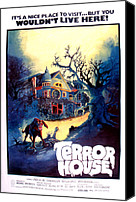 Haunted House Photo Canvas Prints - Terror House Aka Club Dead Terror At Canvas Print by Everett
