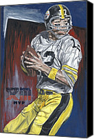 David Courson Canvas Prints - Terry Bradshaw XIII MVP Canvas Print by David Courson